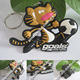 China Manufacturer Customized Logo 2D Or 3D Embossed Cute Tiger Football Led PVC Keychain For 2014 Brazil Souvenir