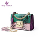 All Purpose Python Emboss Lady Leather Crossbody Bag with Chain Strap