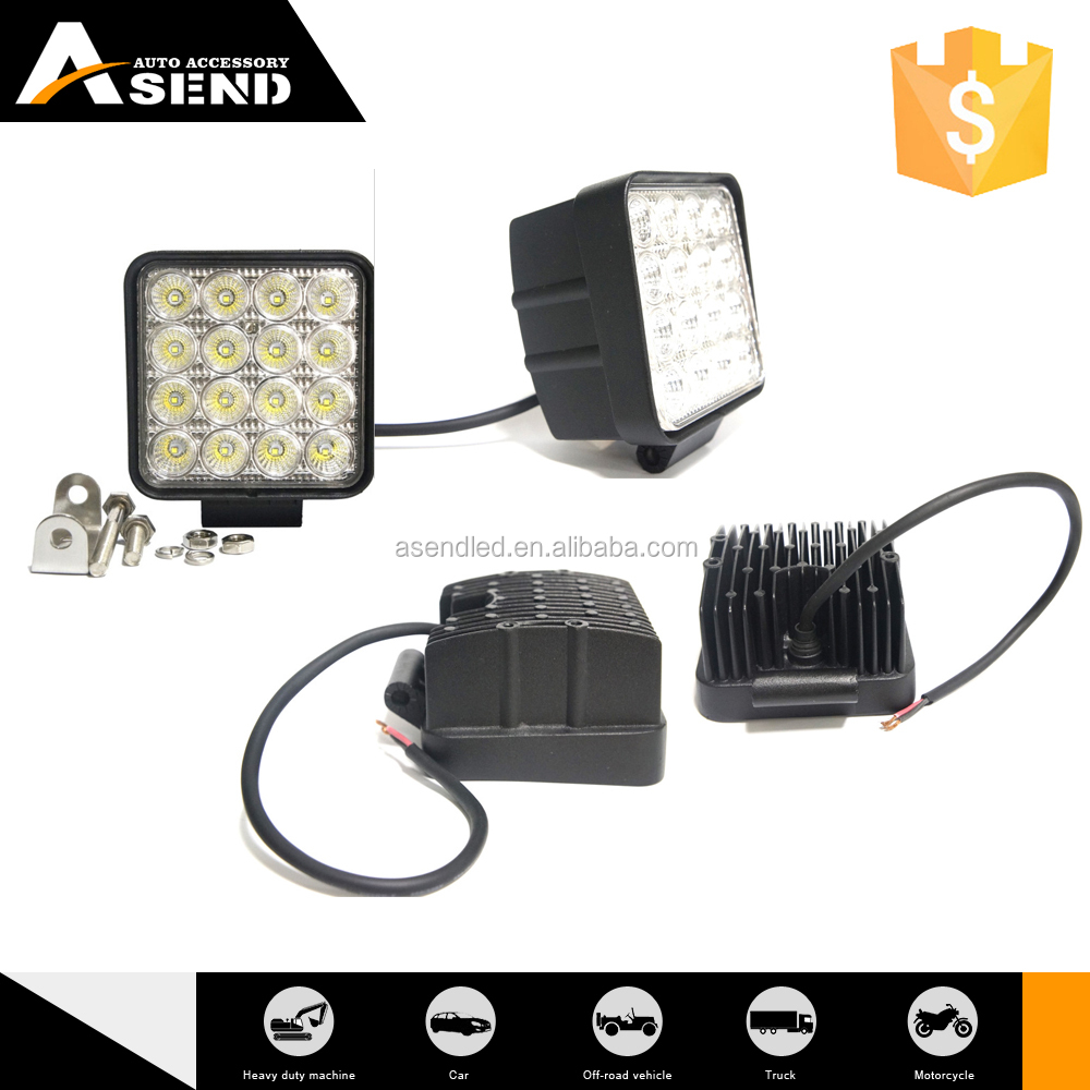 48w led work light 3w spot beam flood beam 4000 lumen lighting for auto