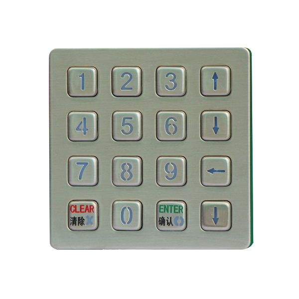 USB&PS2 Panel Mount 16 flush keys numeric Keypad