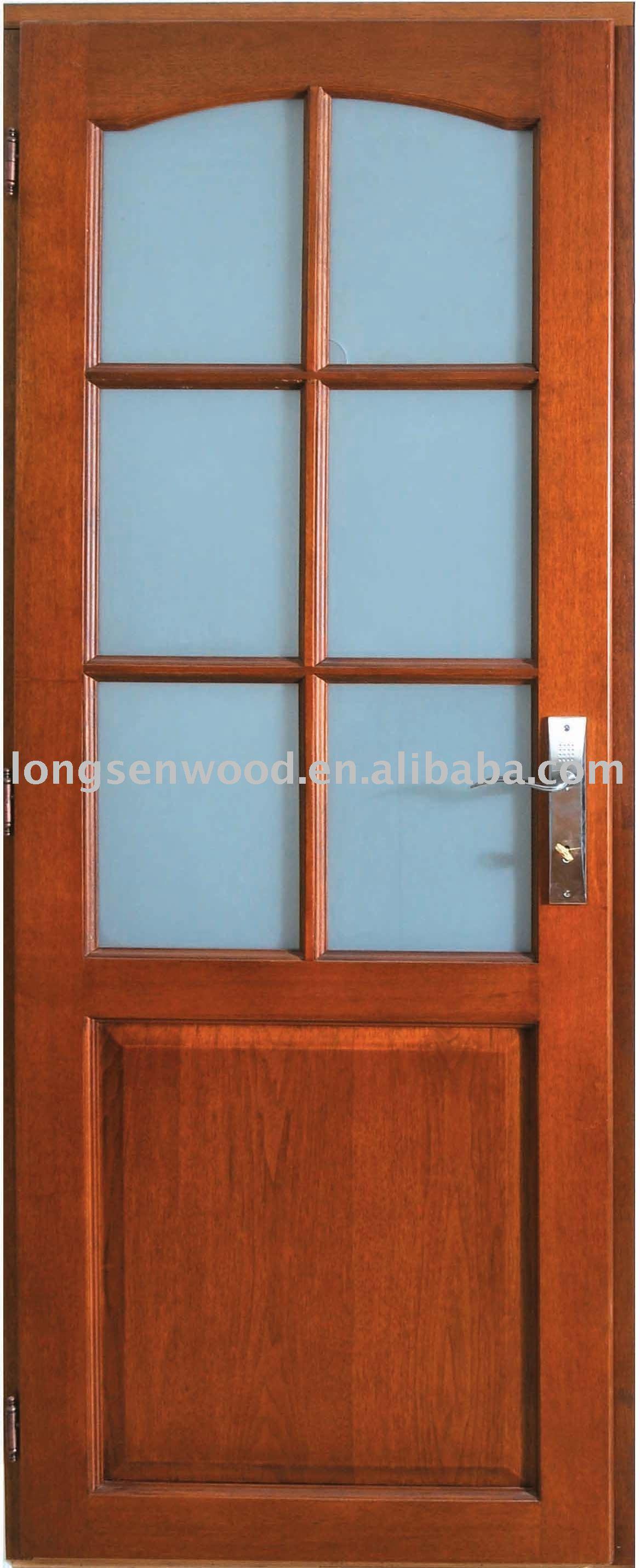Marco de madera puerta de cristal puertas identificaci n - Puertas madera y vidrio ...