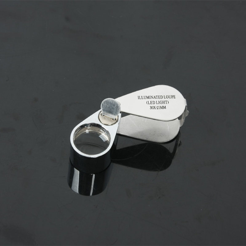 LED currency detecting jewelry magnifying glass for diamond