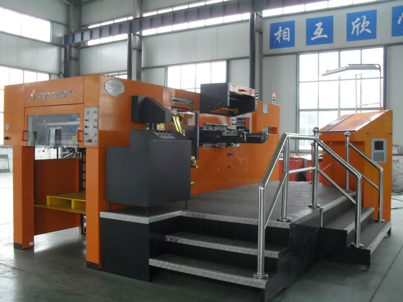 High speed XMQ-1050FCH Automatic Die cutting Hot Foil Stamping Machine with hologram