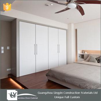 2015 indian bedroom laminate white color wardrobe designs