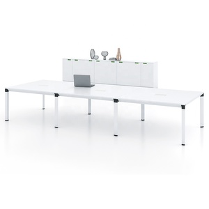 10 seats modular conference table meeting desk aluminum frame with panel top