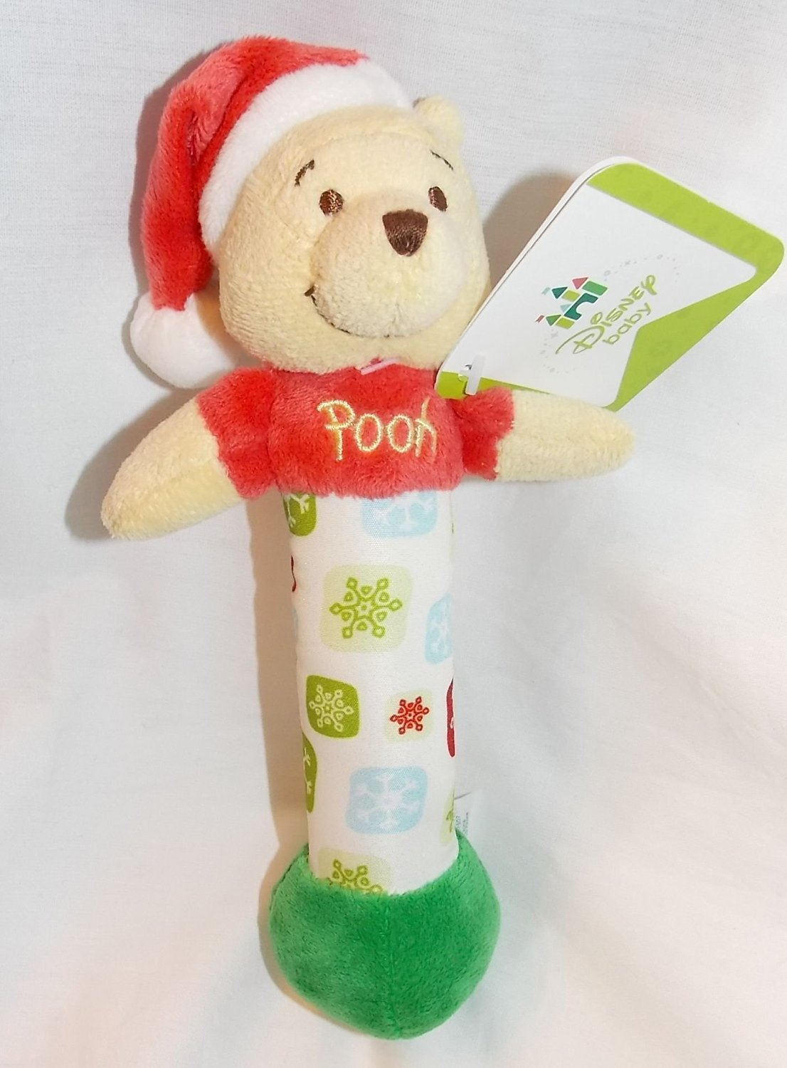 get quotations disney baby 7 plush christmas winnie the pooh rattle - Winnie The Pooh Christmas Decorations