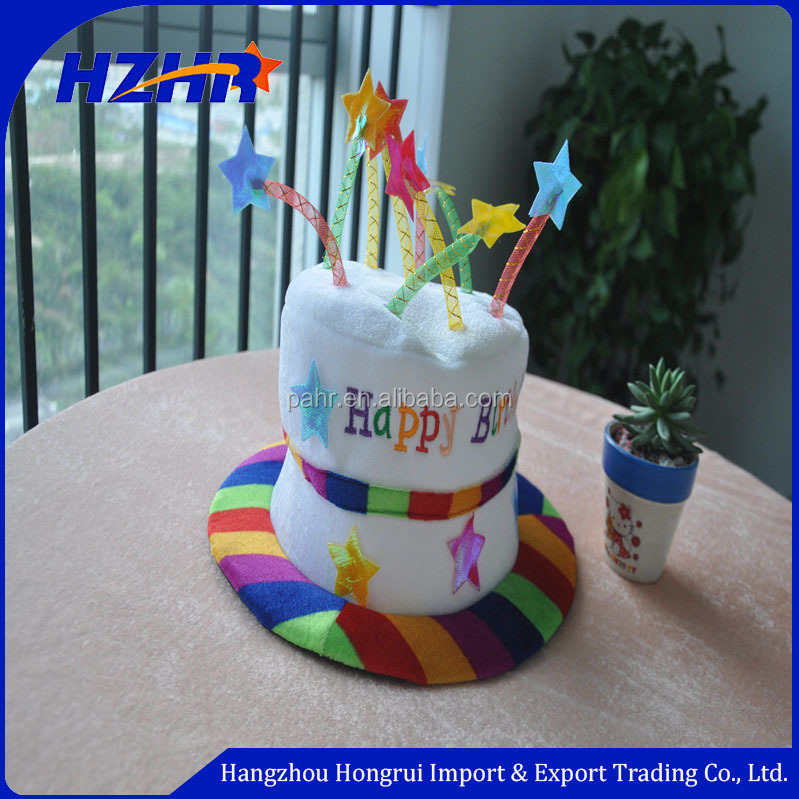 2018 Candle Happy Birthday Cake Hat King Top Fancy Festival