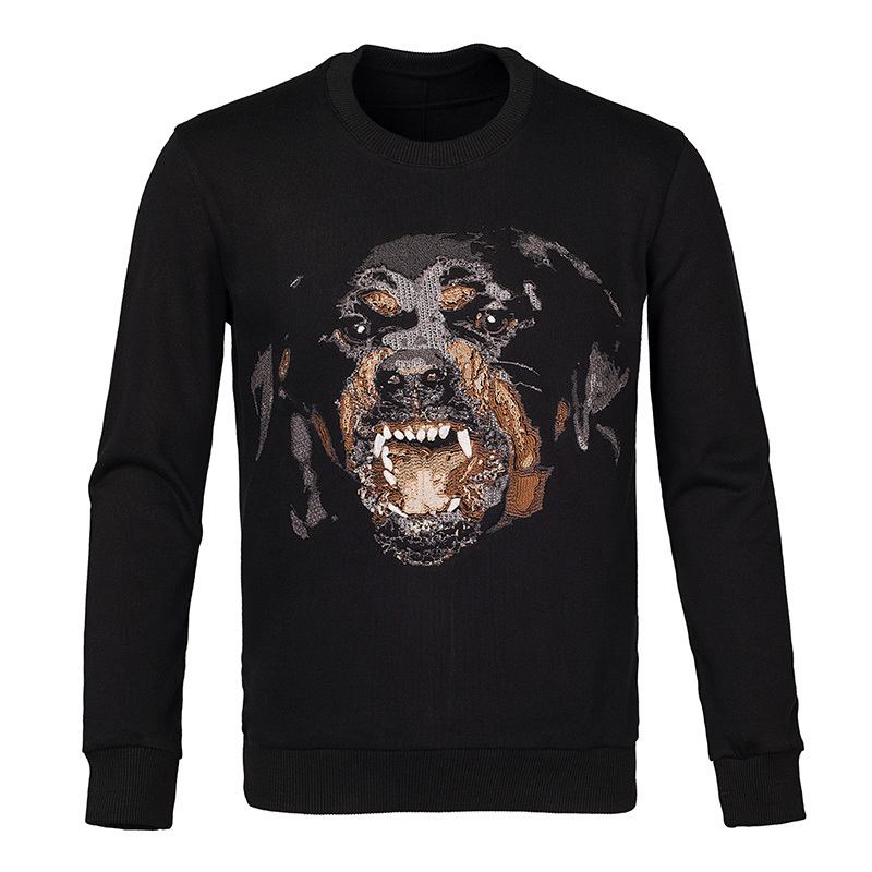 2015 new arrival given men fashion dog head 3d casual Sweatshirts long sleeve t-shirt lovers men women gvc brand Hip-hop hoodies