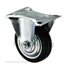 Transport industrial trolley rubber fixed caster wheel