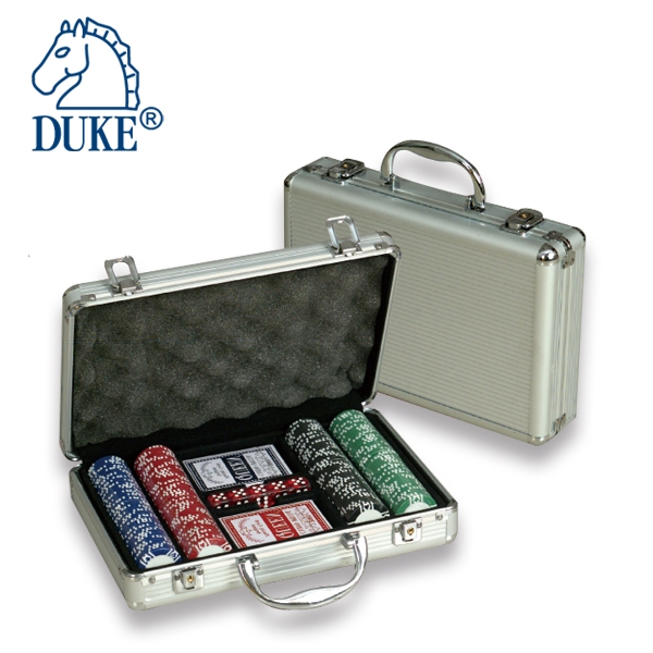200pcs Poker Chips Game Set in Aluminum Case