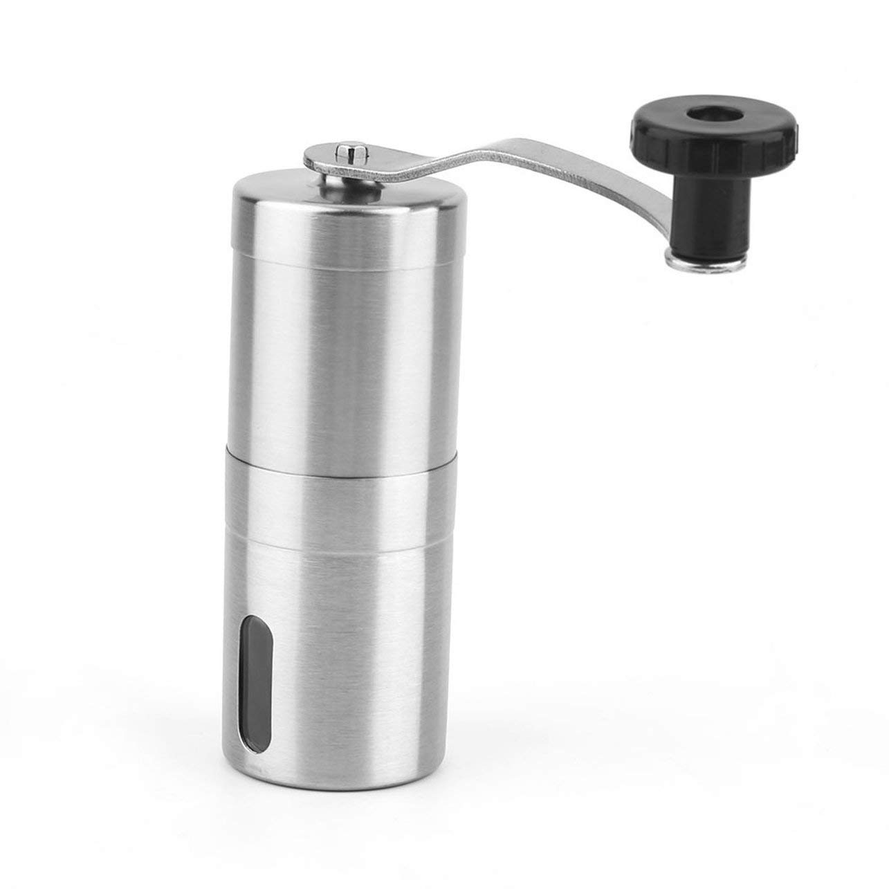 Practical Coffee Bean Grinder Stainless Steel Hand Manual Handmade Grinder Mill Kitchen Grinding Tool(Color:silver)