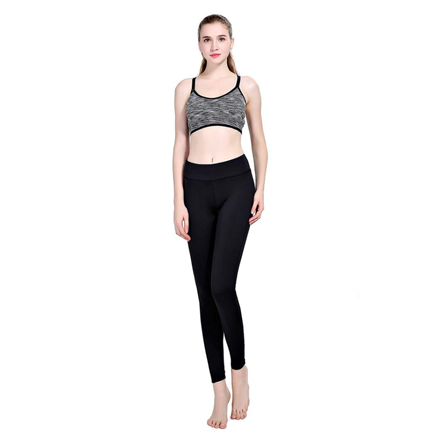 d849163107293d Get Quotations · Yoga Pants, GOODCULLER Women Fitness Leggings Mesh  Patchwork Skinny Push Up Pants