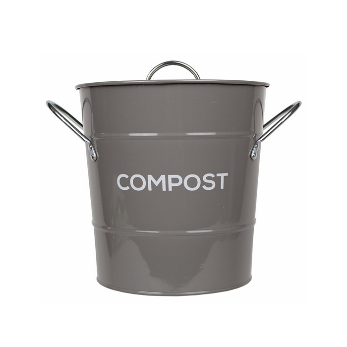 Charmant Colored Metal Kitchen Compost Caddy   Composting Bin For Food Waste  Recycling
