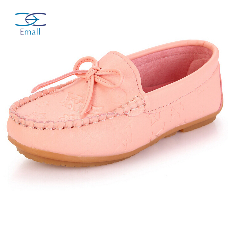 2015 spring autumn girls shoes children leather shoes baby kids casual shoes soft bottom pure color girls sneakers flat shoes