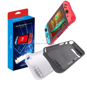 Hot Selling TPU Clear Soft Cover Skin Transparent Silicone Protective Case for Nintendo Switch Console Joy-con