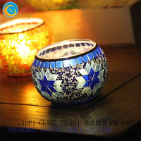 mosaic candle jars and containers