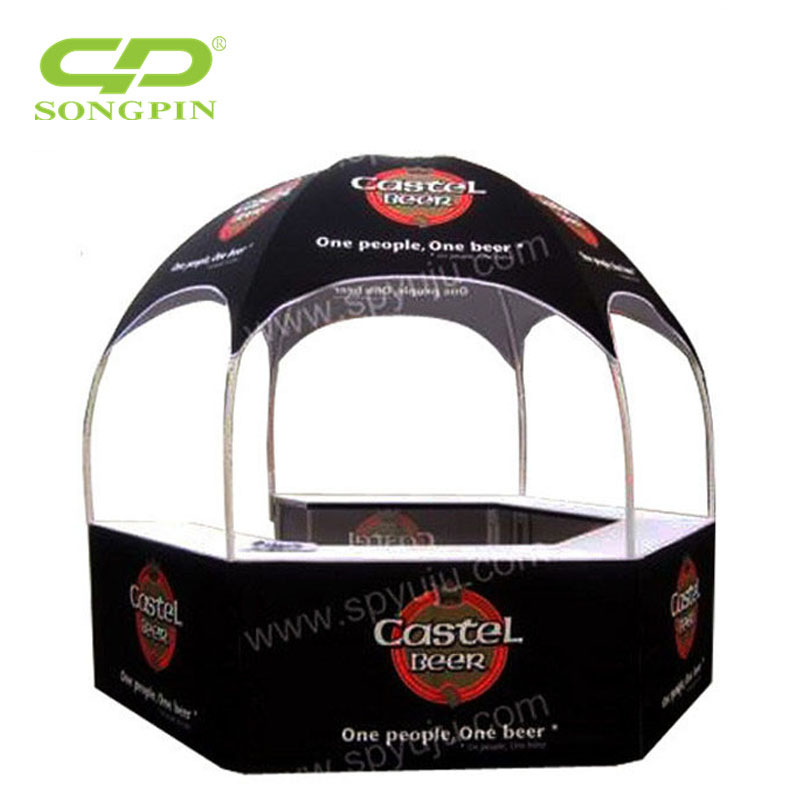 small dome printing canopy tent with movable tables