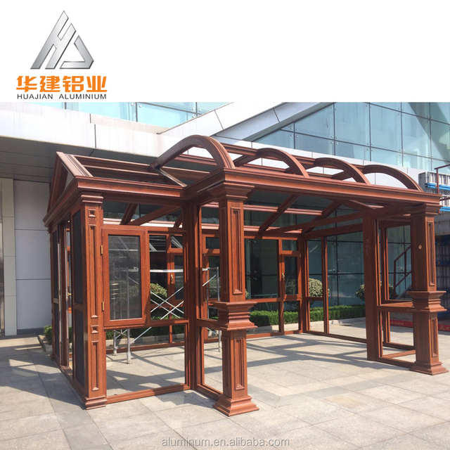 NEW Designs Sunroom Garden Pergola Glass House Greenhouse Aluminum OUTDOOR  Wood Sun Room