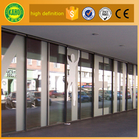 Factory price for 1440 dpi Resistant to scratch digital printing on glass office glass partition panel for office room dividers