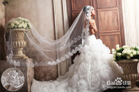 10PCS MOQ: White Cheap And Beautiful 1mW * 3mL Wedding Bridal Veils With Free Shipping