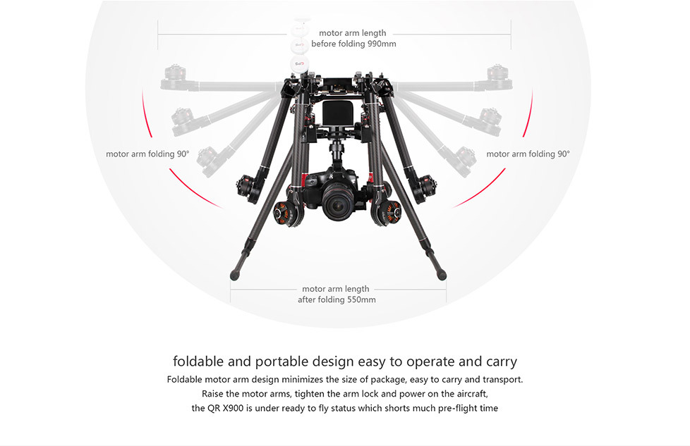 New released Walkera QR X900 quadcopter aerial aircraft GPS FPV autorotation parachute protection gas powered rc helicopter