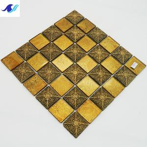 3D mural ancient India mosaic wall paper resin water jet mosaic