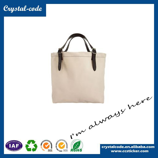 Large Capacity Newly Canvas Shopping Bag With Leather Trim
