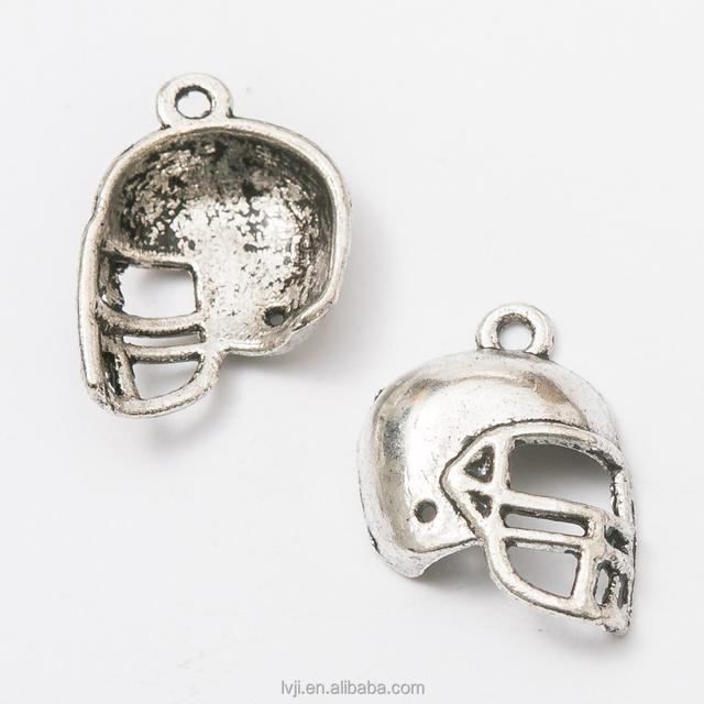 China tibetan silver charm pendant wholesale alibaba antique tibetan silver baseball helmet charms pendants diy supplies aloadofball Images