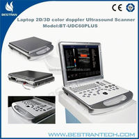 "BT-UDC60PLUS 15""TFT 3.5MHz convex probe,1 probe connectors Laptop cardiac ultrasound machine with doppler distributors"