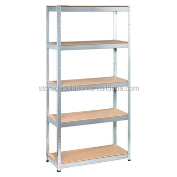 5 Tier Light Duty Galvanized Adjule Boltless Garage Storage Shelving Unit
