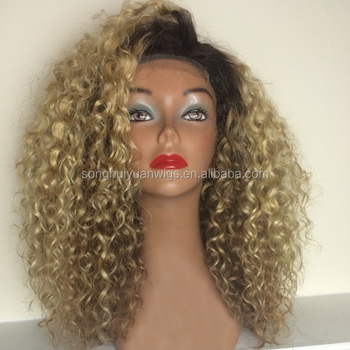 Wholesale Afro Kinky Curly Blonde Brazilian Virgin Hair Lace Front