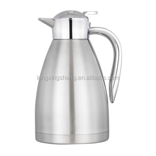 Stainless steel vacuum tea pot/Thermal Vacuum Carafes/2.0L coffee pot