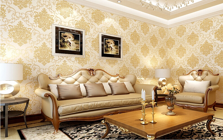 Colorful Living Room Wallpaper Designs Ensign - Wall Art Collections ...