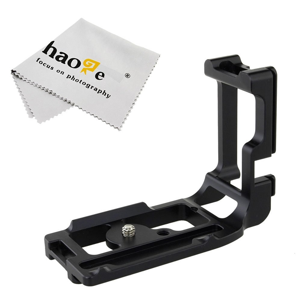 Haoge Vertical Shoot QR Quick Release L Plate Camera Bracket Holder for Canon 5D Mark III 5D3 5DS 5DSR Body Camera Body Fit Arca Swiss Sunwayfoto Kirk RRS Benro