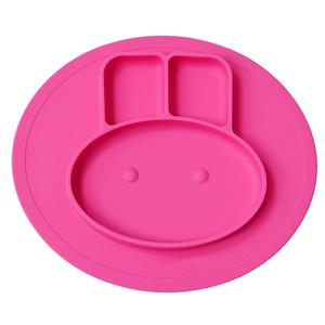 High Quality Silicone Kids Plates Baby Food Mat Silicone Suction Placemat Feeding Plate for Toddlers