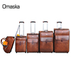luggage large sizes light weight suitcase pu leather sample carry case