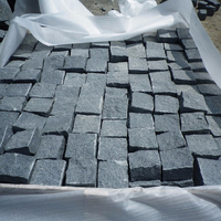 Natural Split Grey G654 Driveway Pavers Granite Cobble Stone