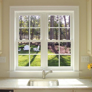Kitchen Window Design Aluminum Frame Glass Grill Double Hung Window