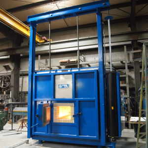 Energy saving laboratory melting and sintering bottom-loading muffle furnace kiln