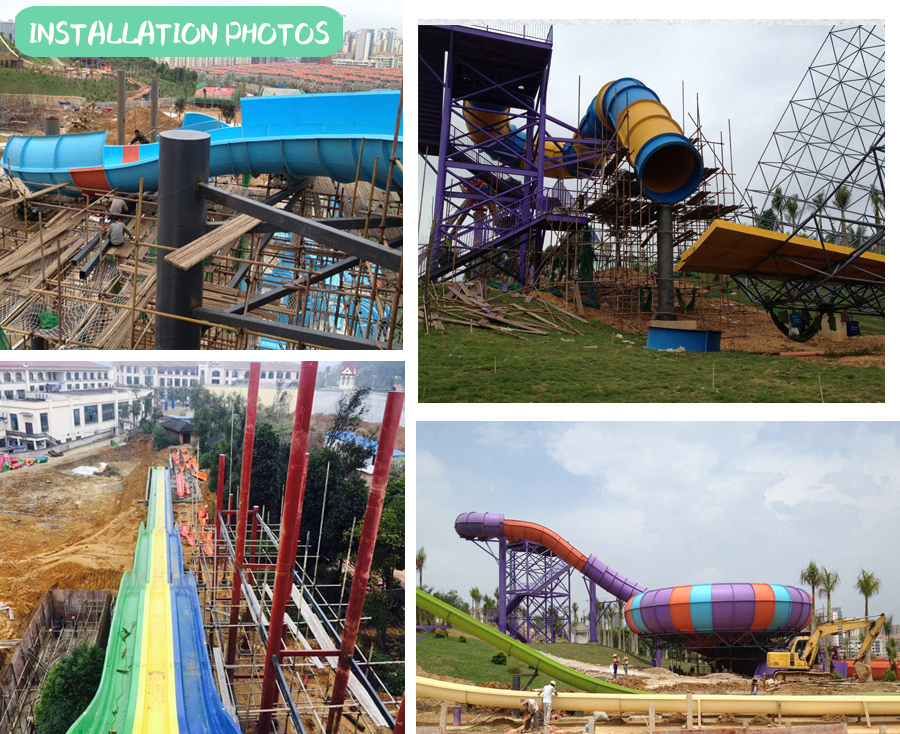 Water park toys combination slides for sale