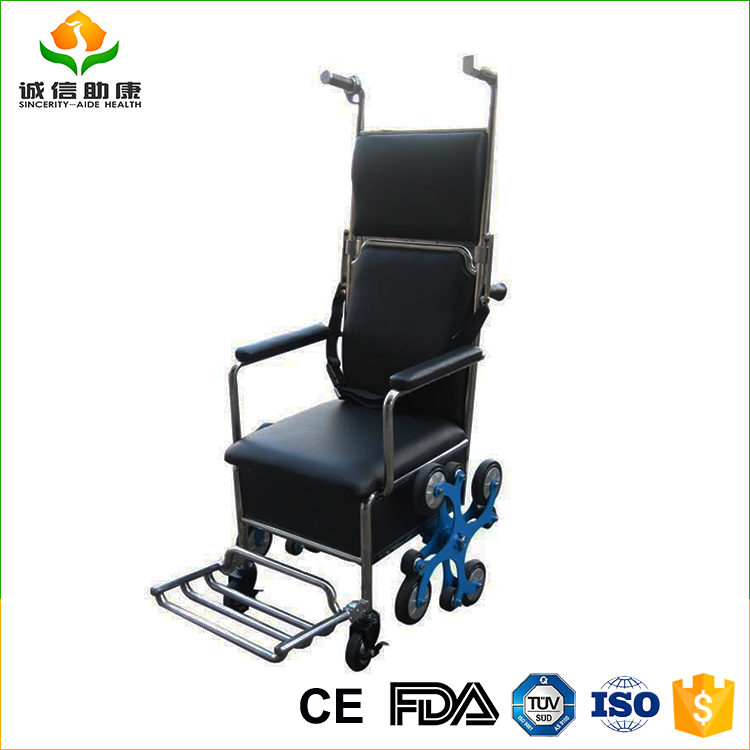 2017 Best selling comfortable easy to use stair climbing wheelchair for elderly people