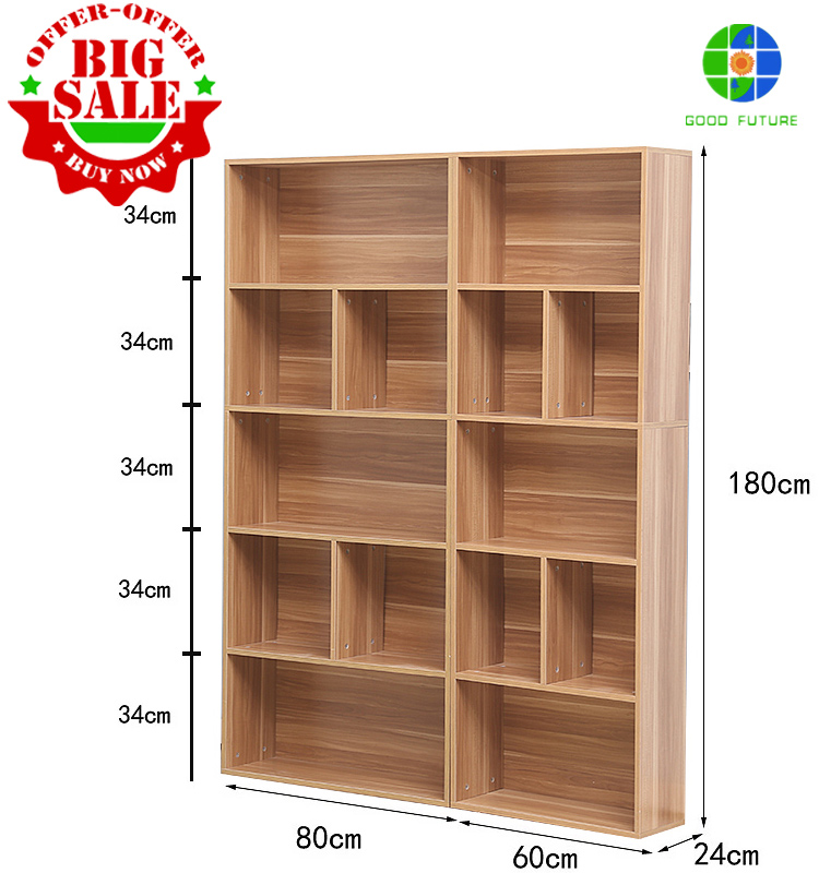 2016 NEW DESIGN WHOLESALE WOODEN DIY BOOKCASE