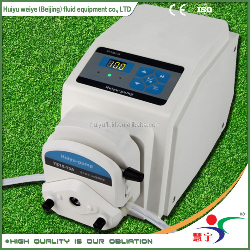 precision stepper motor variable speed CE approved 220v AC self-priming mini laboratory food grade peristaltic fluid pump