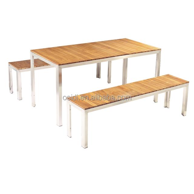 Venta al por mayor mesa y bancos de madera-Compre online los mejores ...