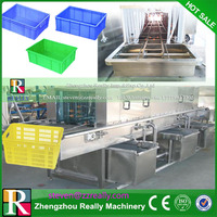 High pressure spray turnover basket cleaning or washing machine/food container box washer