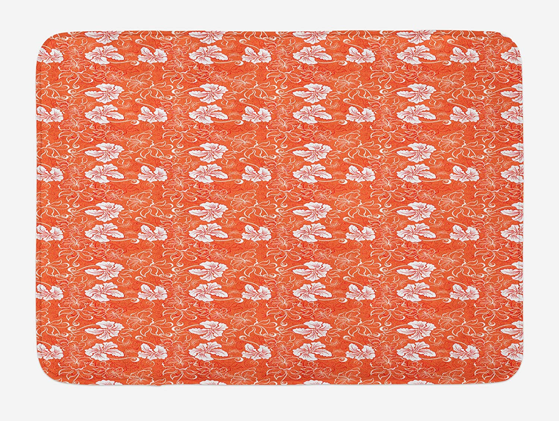 Burnt orange bath mat tool box covers
