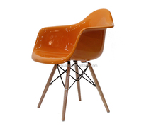 Fiberglass Chair /tulip chair /dining chairs with solid wood legs