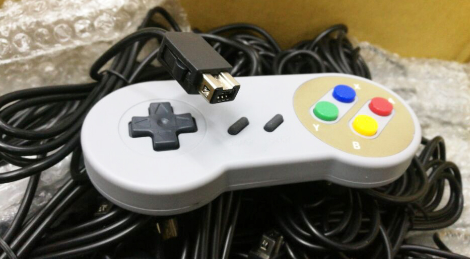 wired retro snes controller