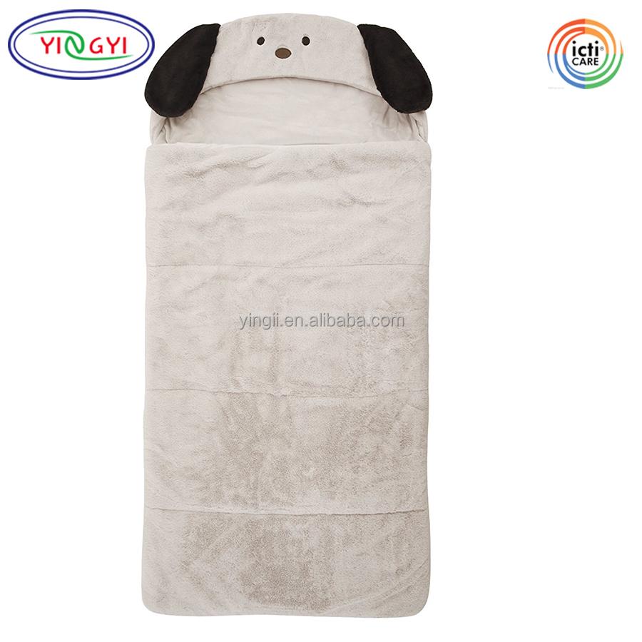 2a4fd5269a78 F294 Faux Fur Hooded Animal Sleeping Bag Plush Dog Kids Animal Sleeping Bags