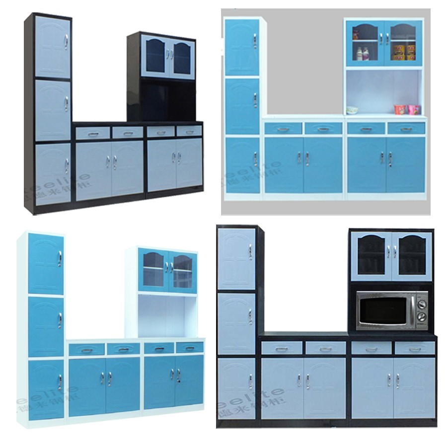 Made In China Steel Kitchen Furniture Set Ready Made Simple Designs ...